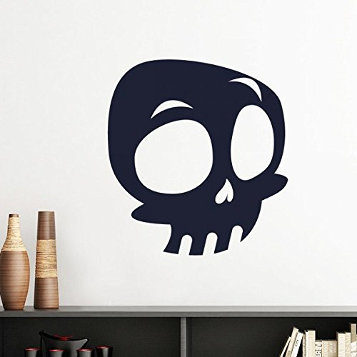 Halloween Big Eyed Skeleton Silhouette Wall Sticker Art Decals Mural DIY Wallpaper for Room Decal Removable]()