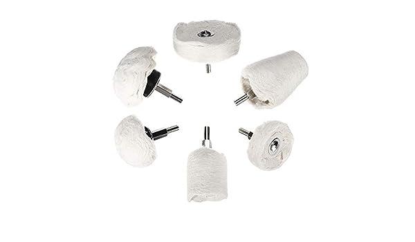 GIlH - Juego de 6 almohadillas para pulir rueda de mopa de algodón ...