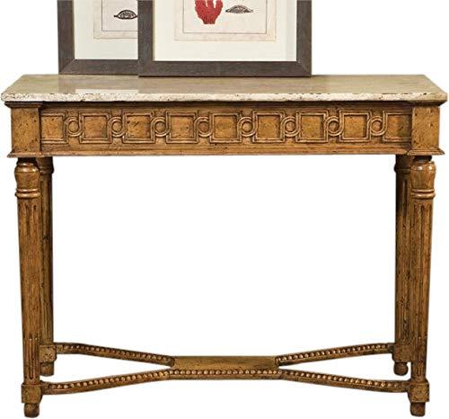 Console Port Eliot French Antique Linen Marble Olde European Pine Frieze Molding ()