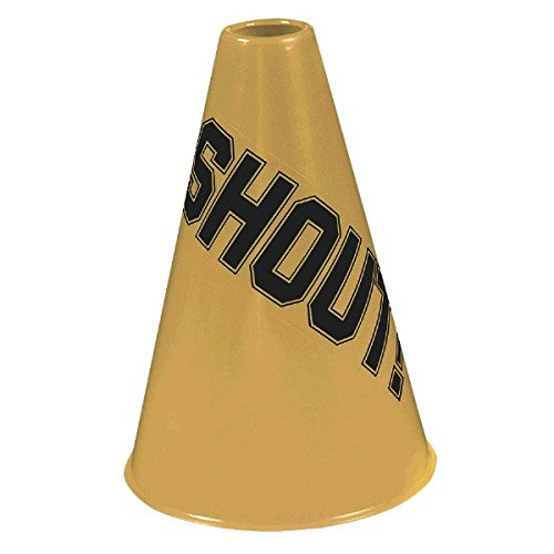 Amscan Shout Megaphone, Party Accessory, Gold
