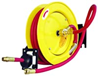 """Amflo 510HR-RET Automatic Open Hose Reel With 250 PSI 3/8"""" x 25' Red Rubber Air Hose"""