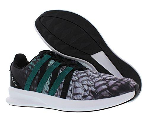 adidas Originals Herren SL Loop Racer Schnürer Sneaker Schwarz / Smaragd / Weiß