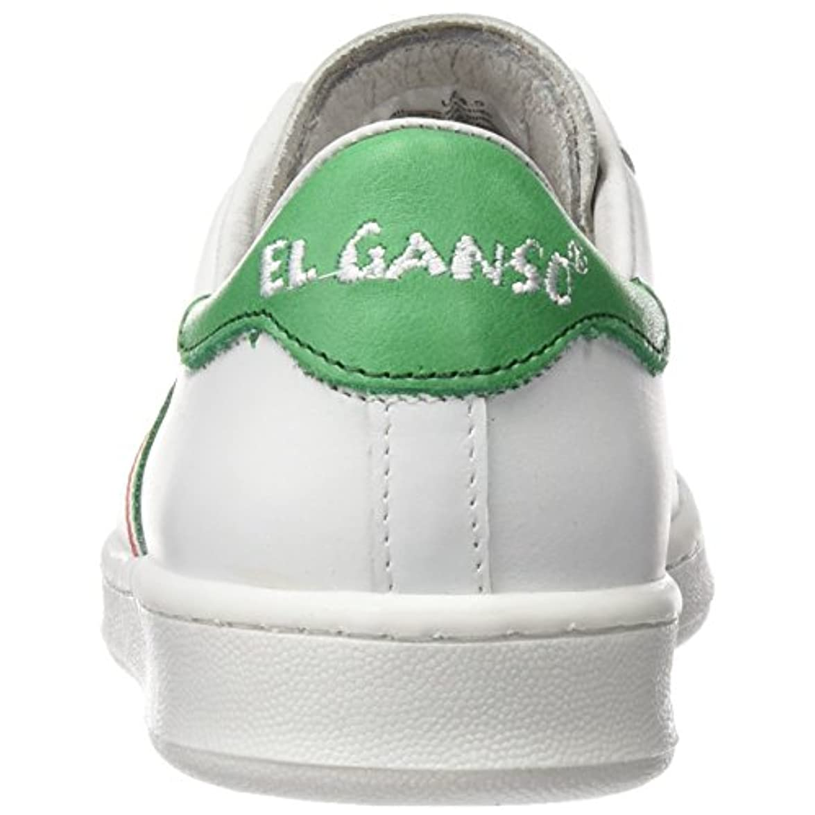 El Ganso - Low Top Blanca Bandera Italia Sneaker Basse Unisex – Adulto