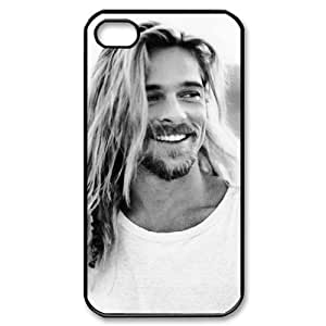 C-EUR Customized Print Brad Pitt Pattern Back Case for iPhone 4/4S
