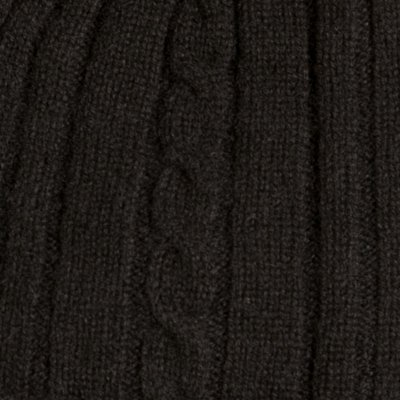 Fishers Finery Women's Cashmere Cable Knitted Scarf; Christmas Gift (Black) by Fishers Finery (Image #3)