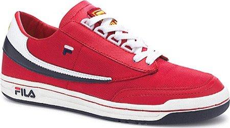 Fila Mens Fitness Original Lea Classique Sneaker Fila Rouge / Blanc / Fila Marine