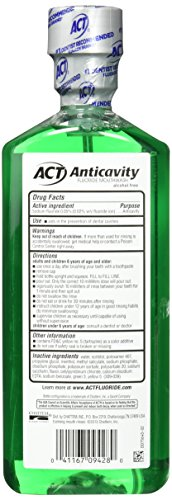 ACT Alcohol Free Anticavity Fluoride Rinse, Mint - 18 oz - 2 pk by ACT (Image #4)