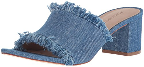 Bernardo Women's Blaire Heeled Sandal, Denim, 8.5M M US