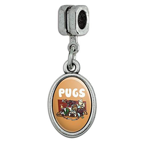 GRAPHICS MORE Pugs Games RPG Pickup Groups LFG Rogue Wizard Warrior Ranger 2 Italian Bracelet Oval Charm Bead