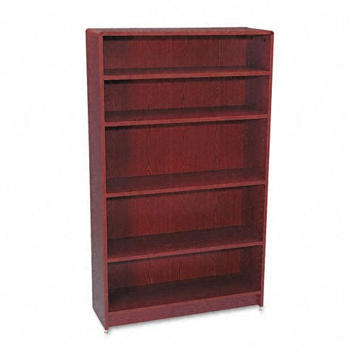 (HON 1890 Series Bookcase, 5 Shelves, 36 W by 11-1/2 D by 60-1/8 H, Mahogany)