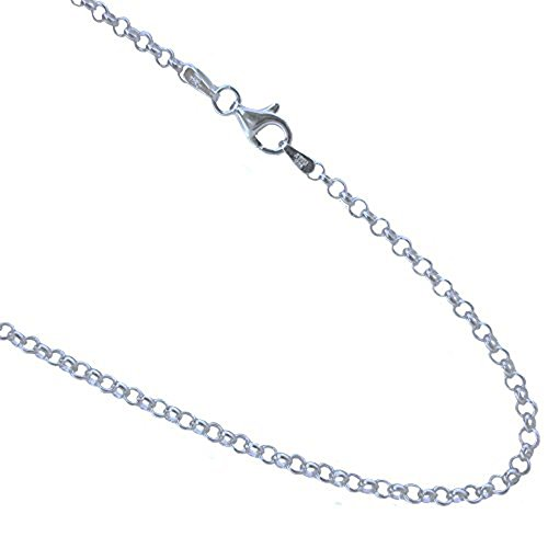 2.5mm Rolo Chain .925 Italian Sterling Silver Link Necklace. 16,18,20,22,24,30 Inches (30 Inches)