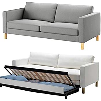 Admirable Hometown Market The Durable Cotton Ikea Karlstad 3 Seater Sofa Bed Or Sleeper Cover Replacement Is Custom Made For Ikea Karlstad Sofa Bed Slipcover Squirreltailoven Fun Painted Chair Ideas Images Squirreltailovenorg