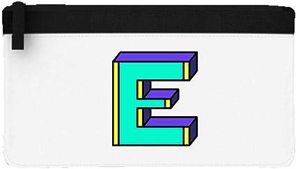 Estuche plano con letras del alfabeto E – Retro Kid Pixel Style One Set, color negro talla única: Amazon.es: Oficina y papelería