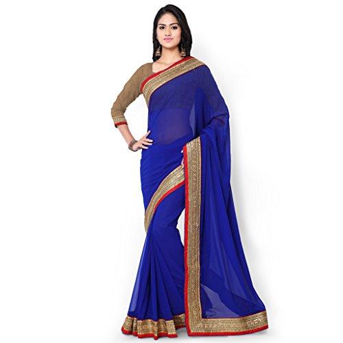 Royal Blue Saree - 3