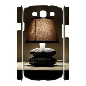 3D Bloomingbluerose Night Light Samsung Galaxy S3 Case, {White}