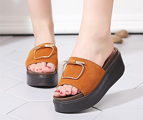 sandalias Moda Antideslizantes A Casa 39 Verano Tamaño Zapatillas Fafz Mujer color B Planas De Sandalias pYnRzq