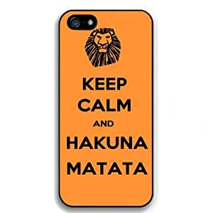 Keep Calm and Hakuna Matata Snap on Case Cover for Apple Iphone 5 Cellphone Case A04 by ruishername