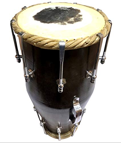 Global Art World Classy Traditional Collectible Handmade Wooden Dholak Indian Folk Musical Instrument Drum Dhool BC 06