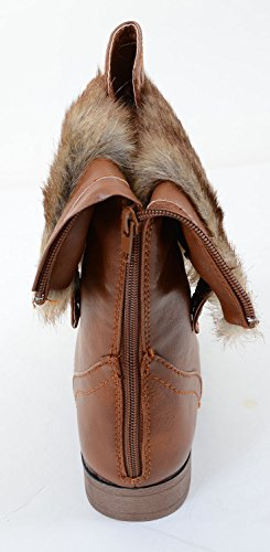 Fourever Funky, Damen Stiefel & Stiefeletten , Beige - Hellbraun - Größe: 39 EU (M)