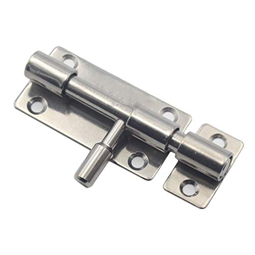 (lehao397 Stainless Steel Slide Bolt Latch Door Barrel Bolt Latch Home Anti-Theft Guard Bolts Action Hardware)