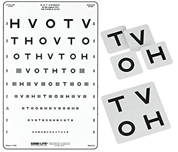 Amazon com hotv crowded translucent distance eye chart health