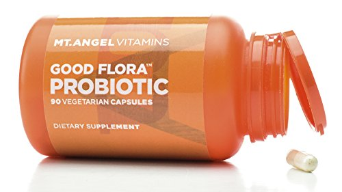 Mt. Angel Vitamins - Good Flora Probiotic, Supports Healthy Digestion and Bacteria (90 Vegetarian Capsules)