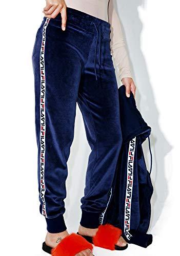 Fila Women's Dolly Velour Jogger Pant (Navy, Medium) from Fila
