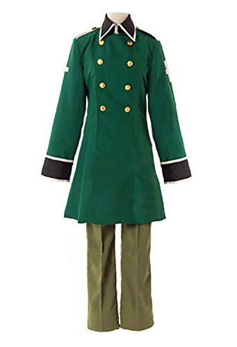 YSZYZX Unisex Cosplay Japanese Anime Switzerland Swiss Army Military Uniform Suit,Male Asian S:Bust (Switzerland Un Costume)