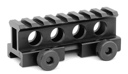 Gizmo Supply AR15 M4 FLAT TOP 1 INCH COMPACT RISER MOUNT PICATINNY RAIL 8 RING SLOT