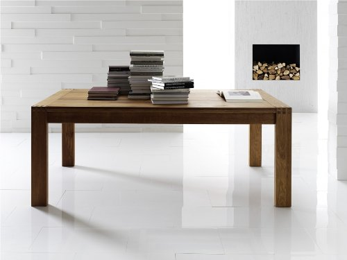 Esstisch Villach Tisch massiv Massivholztisch in verschiedenen Größen Akazie (200 x 100 cm)