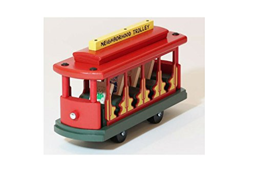 (Mister Rogers/Daniel Tiger's Neighborhood Trolley - Iconic Wooden Replica 11