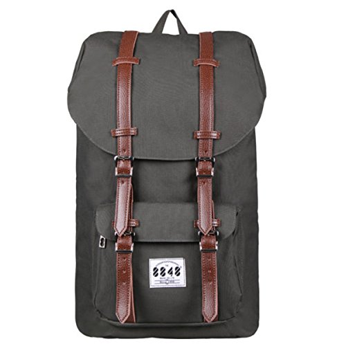 8848 Laptop Backpack Outdoor Travel Hiking Camping Rucksack Large School Daypack Shoulder Book Bag Lightweight Khaki
