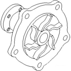 Case IH Tractor 2670, 4690, 4694 Water Pump L/ Hub Part No: A-A157146, 112417 by AI Products