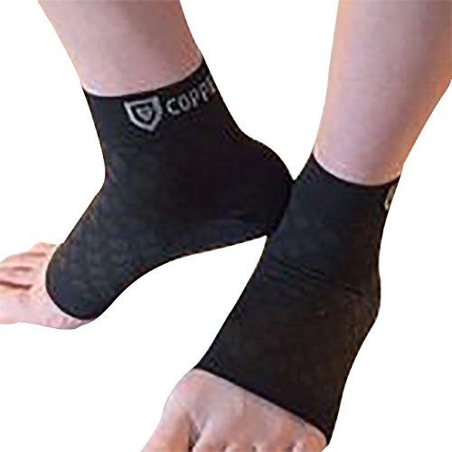 Copper Shield Plantar Fasciitis kupfergefütterte Socken und Strümpfe, zusätzlicher Schutz und Erleichterung für Männer/Frauen, Kompessionsunterstützung für Fuß, Ferse, Gelenke, Fußwölbung, Durchblutung + mehr