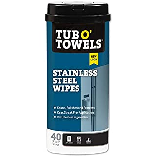 Tub O' Towels Heavy Duty Stainless Steel Wipes, 40 Count