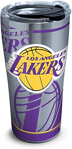 Tervis 1287702 Nba Los Angeles Lakers Paint 20 Oz Stainless Steel Tumbler with Lid, 30 oz, Silver by Tervis