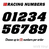 Racing Numbers Vinyl Decal Sticker 0200 - Plate Numbers Style 1