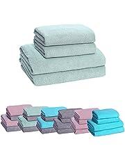HOPS Handdoekenset, badhanddoek groot, badhanddoeken, handdoek sneldrogend, handdoekenset, handdoeken 50x100, badhanddoek/douchehanddoek 70x140, handdoek (mint, 2 badhanddoeken + 2 handdoeken)