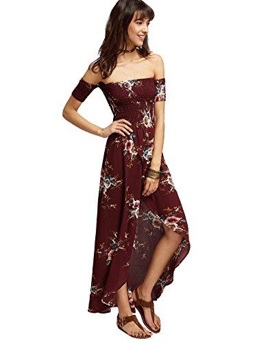 off the shoulder wrap dress - 1