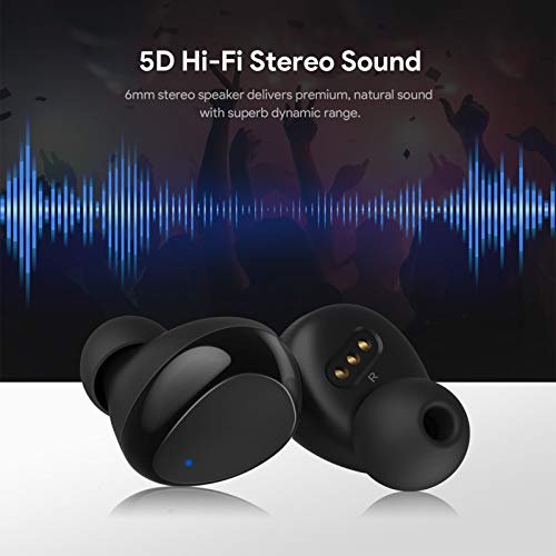 Bluetooth Earbuds, VOTOMY Bluetooth 5.0 Truly Wireless Earbuds with 5D Stereo Sound, 200H Playtime, IPX7 Waterproof, Touch Control Bluetooth Earphones with CVC 8.0 Noise Cancelling for Sports & Work