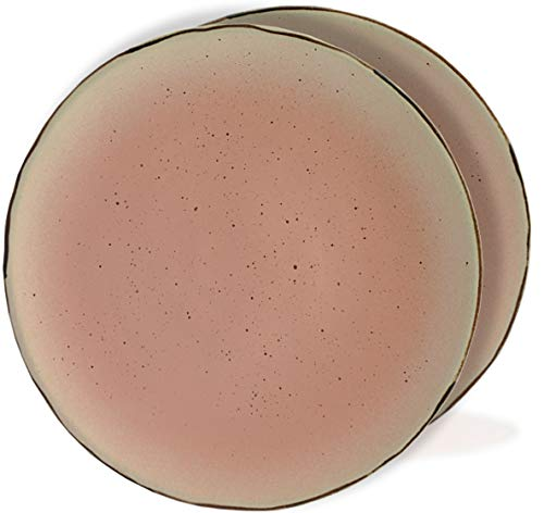 roro Ceramic Stoneware free-form Hand-Thrown Dinner Plate, 11