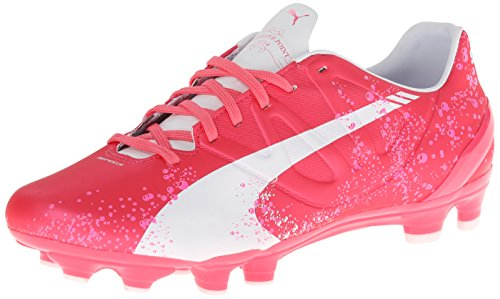 PUMA Women's Evo Speed 3.3 PK Firm Ground Soccer Shoe,Camellia Rose/Fluorescent Pink/White,8.5 B US by PUMA