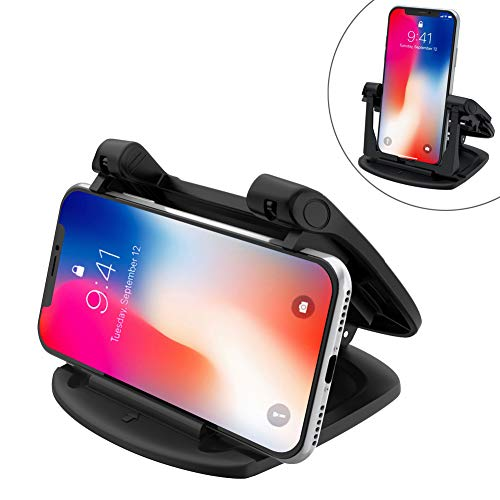 Cell Phone Holder for Car, 360 Rotate Strong Sticky Gel Pad Dashboard Car Mount Universal for all Smartphones Compatible iPhone Xs/Xs Max XR X 6S 7 8 Plus Samsung Galaxy ()