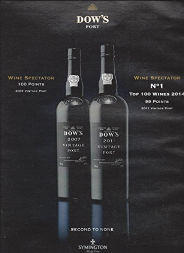Dow Port (PRINT AD For Dow's Vintage Port Wine: Second To NonePRINT AD)
