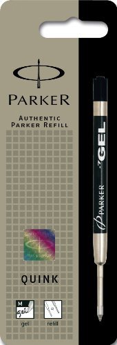 Parker Quink Gel Ball Pen Refill Medium - Black (Blister Pack)