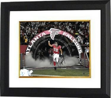 Tony Gonzalez Autographed Picture - 16X20 Custom Framed #88 horizontal tunnel run)- JSA BAS Guaranteed To Pass - PSA/DNA Certified ()
