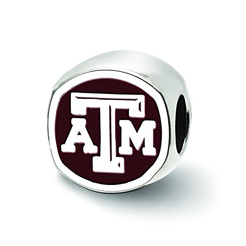 LogoArt Logo Art Sterling Silver Texas A&M Aggies Cushion Shaped Logo Bead from LogoArt