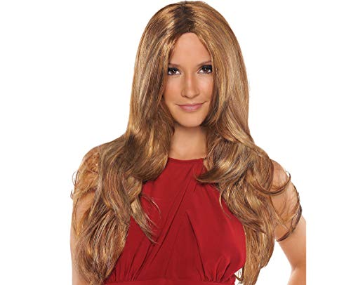 Hot Wig Halloween Costume Accessories, Caramel Brown, One Size, by Amscan ()