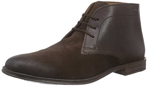 Clarks Herren Hawkley Rise Derby Braun (Dark Brown Combi)