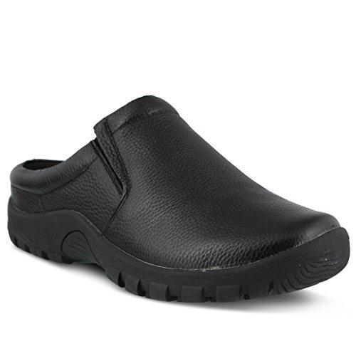 Men's Spring Step Professional Blaine Men's Clog | Color Black | Men's Leather Open Back Slip On